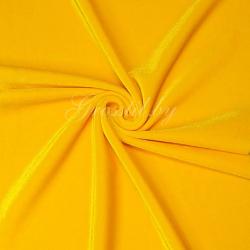Бархат-стрейч танцевальный ярко-желтый